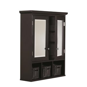 allen + roth 24.75-in x 30.25-in Rectangle Surface Medicine Cabinet with Mirror