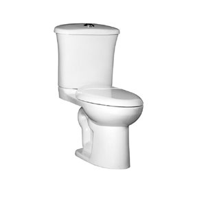 Pfister Treviso White WaterSense 1-Piece Dual-Flush Comfort Height Elongated Toilet (1.28 GPF)