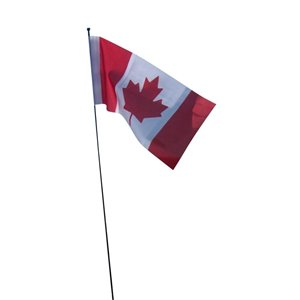 FLAGS UNLIMITED Flags Unlimited CAN006GK 5inch x 10inch DuraKnit Car Aerial Canadian Flag
