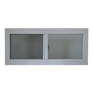 AluminArt 10-1/2-in x 29-1/4-in 4600 Series Left-Operable Vinyl Double Pane Replacement Sliding Window