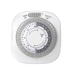 Westek Westek TM01DHBCAN 1-Outlet Daily Indoor Mechanical Timer With Prong Plug