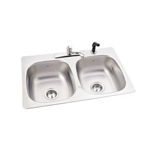 Kindred 20-Gauge 1 Drop-In Stainless Steel Kitchen Sink with Faucet