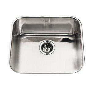Kindred 20-Gauge Undermount Single-Basin Stainless Steel Kitchen Sink