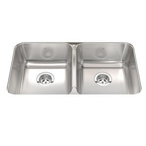 Kindred 18-Gauge Double-Basin Undermount Stainless Steel Kitchen Sink