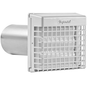 Imperial 4 In Dia Plastic Louvered With Guard Dryer Vent