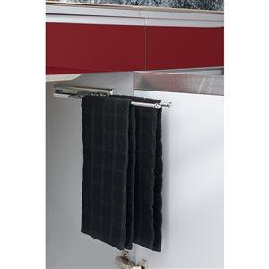 Rev-A-Shelf Rev-A-Shelf Chrome Double Towel Bar (Common: 13-in; Actual: 12.87in)
