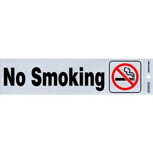 Hillman 2-in x 8-in Smoking Sign