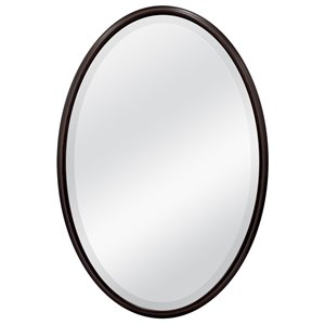 MCS Industries 31-in x 21-in Infinity Oil Rubbed Bronze Oval Framed Mirror