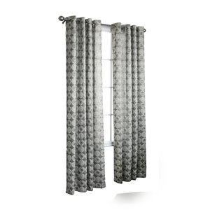 Legacy 84-in L Silver Window Curtain Panel