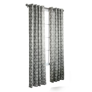 Legacy 95-in L Silver Window Curtain Panel