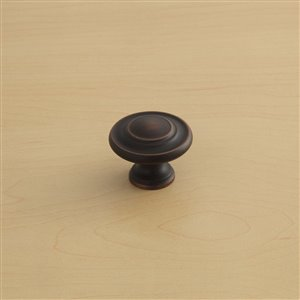 Style Selections Round Cabinet Knob (Aged Bronze) (10 Pack)