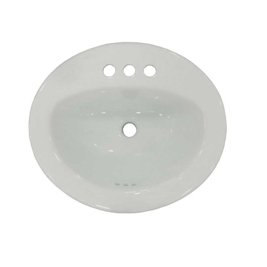 Super Aquasource White Drop In Oval Bathroom Sink Overflow Home Interior And Landscaping Palasignezvosmurscom