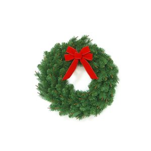 Holiday Living 24-in Unlit Spruce with Red Bow Artificial Christmas Wreath