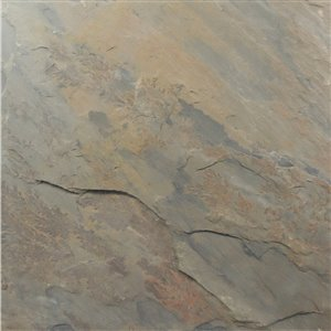 Avenzo 12-in x 12-in Brown Natural Slate Wall and Floor Tile