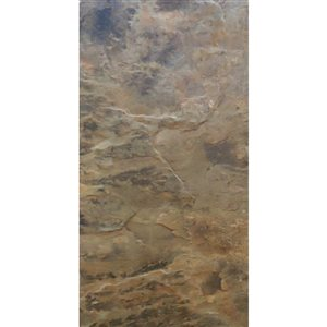 Avenzo 24-in x 12-in Brown Natural Slate Wall and Floor Tile