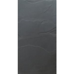 Avenzo 24-in x 12-in Black Natural Slate Wall and Floor Tile