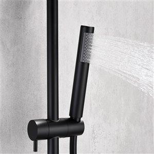 Jade Bath Jacki Matte Black Thermostatic Shower System