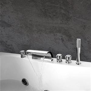 Jade Bath Celeste Chrome Deck Mounted Bathtub Faucet