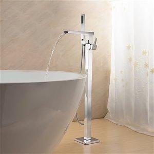 Jade Bath Vivian Chrome Floor-Mounted Tub Filler
