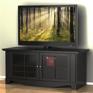 Nexera Pinnacle 56-in Black TV Stand