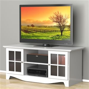 Nexera Pinnacle 56-in White TV Stand