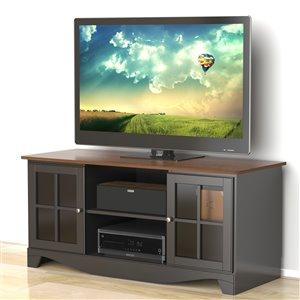 Nexera Pinnacle 54-in Cinnamon Cherry and Black TV Stand
