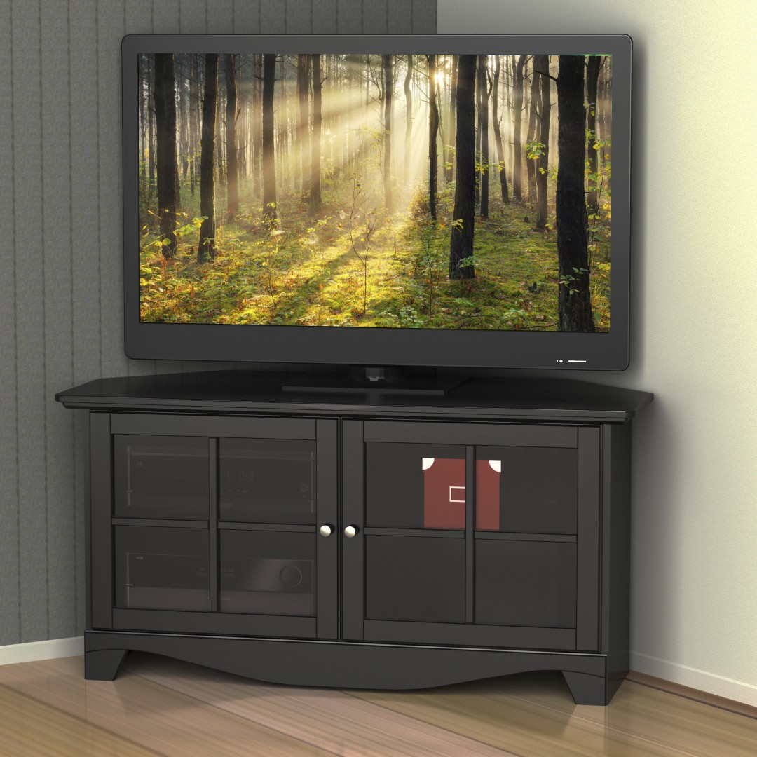 size 40 15abd 89fd4 Pinnacle 49-in Black Corner TV Stand