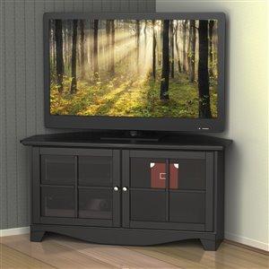 Nexera Pinnacle 49-in Black Corner TV Stand