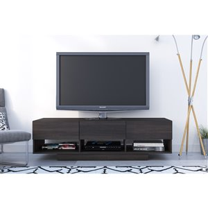 Nexera Rustik 60-in Ebony 3-Drawer TV Stand