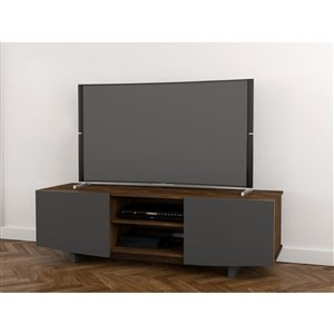 Nexera Helix 60-in Truffle and Charcoal Grey TV Stand