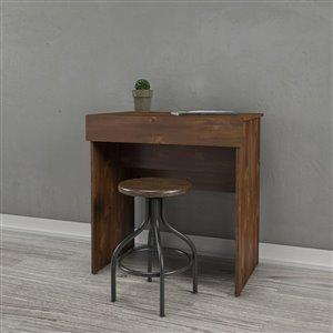 Nexera Dark Brown Finish 30.75-in x 29.75-in Truffle Vanity and Writing Desk
