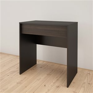 Nexera Dark Finish 30.75-in x 29.75-in Black/Ebony Vanity and Writing Desk