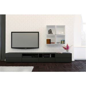 Nexera 60-in Black TV Stand
