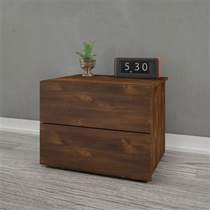 Nexera 2-Drawer Truffle Nightstand