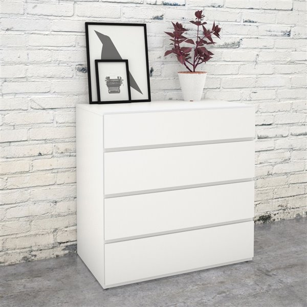 Nexera White 4 Drawer Chest Lowe S Canada