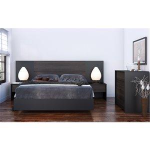 Nexera 40-In x 55.25-In Full Size Plank Effect Ebony laminate Headboard