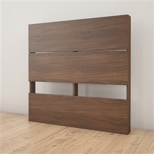 Nexera Twin Size Plank Effect Headboard Walnut