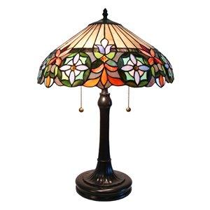 Fine Art Lighting Ltd. Tiffany Style 24-in Vintage Bronze 2-Light Table Lamp