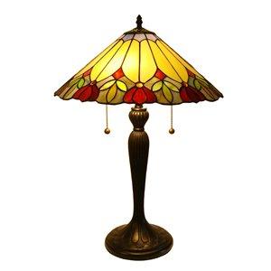 Fine Art Lighting Ltd. Tiffany Style 23-in Vintage Bronze 2-Light Table Lamp