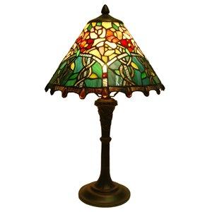 Fine Art Lighting Ltd. Mission 20-in Vintage Bronze Tiffany Style Table Lamp