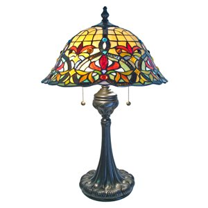 Fine Art Lighting Ltd. Tiffany 24-in Vintage Bronze 2-Light Table Lamp