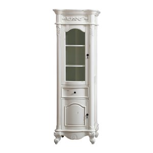 Avanity Provence 24-in Antique White Linen Tower