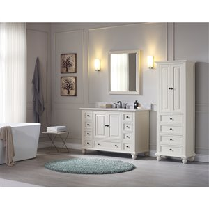 Avanity Thompson 24-in French White Linen Tower