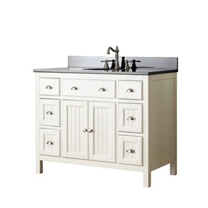 Avanity Hamilton 43-in White With Sink Granite Top Vanity