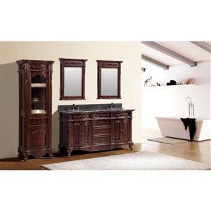 Avanity Provence 61-in Double Sink Cherry Bathroom Vanity with Granite Top