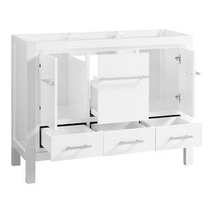 Azzuri Riley 43-in Single Sink White Bathroom Vanity with ...