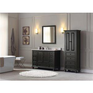 Avanity Thompson 49-in Single Sink Charcoal Bathroom Vanity with Marble Top