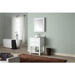 Avanity Brooks 25-in White With Sink Marble Top Vanity