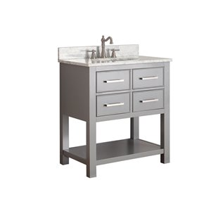 Avanity Brooks 31-in Gray With Sink Marble Top Vanity