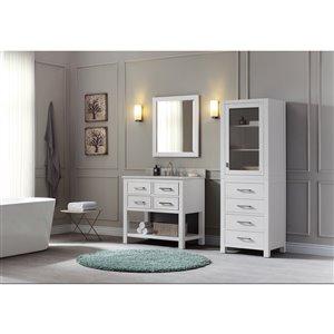 Avanity Brooks 37-in White With Sink Marble Top Vanity